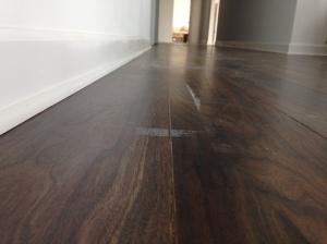 Living Room - Glue from Masking Tape on Floor Coverings