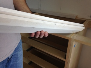 Master Reach-in - Baseboard Trim Installed Instead of Studs or Shims