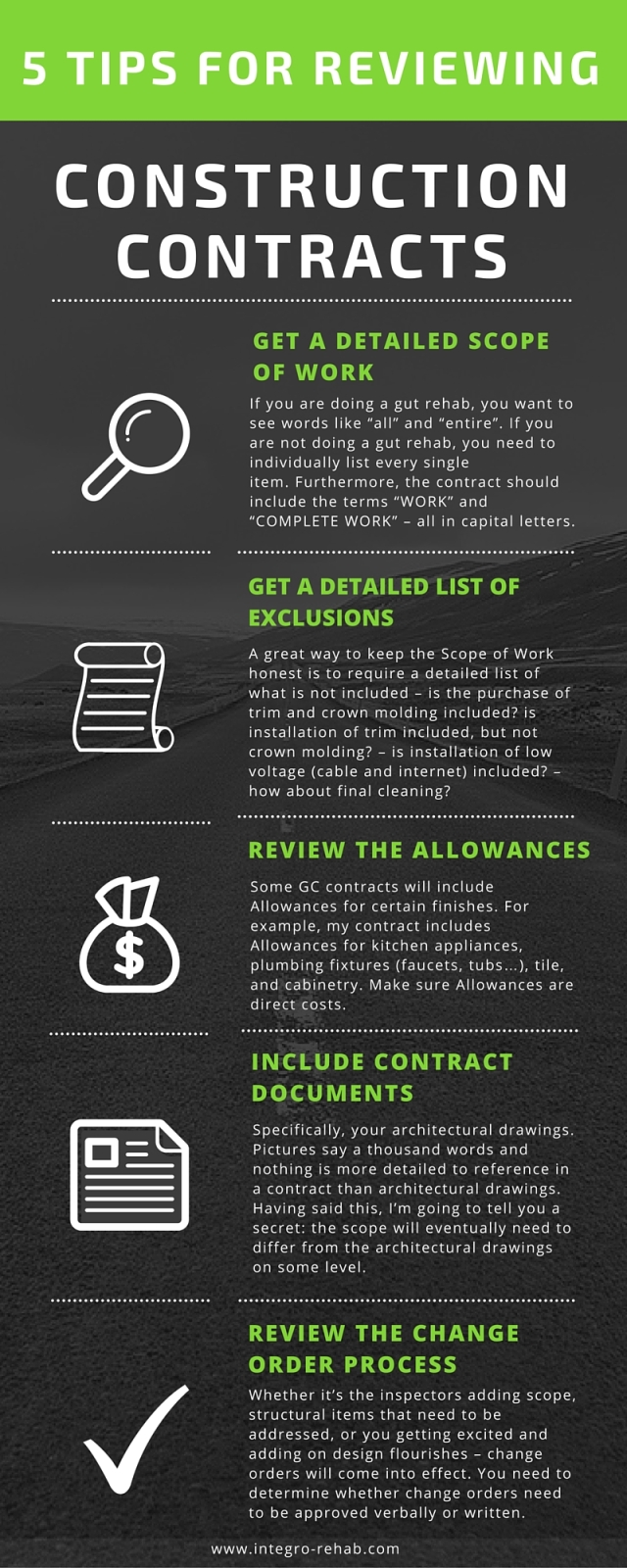 5 Tips for Reviewing Construction Contracts